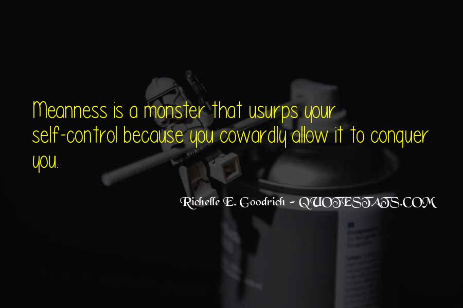 Quotes About Not Being A Monster #276677