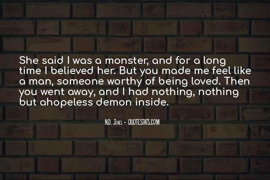 Quotes About Not Being A Monster #435434
