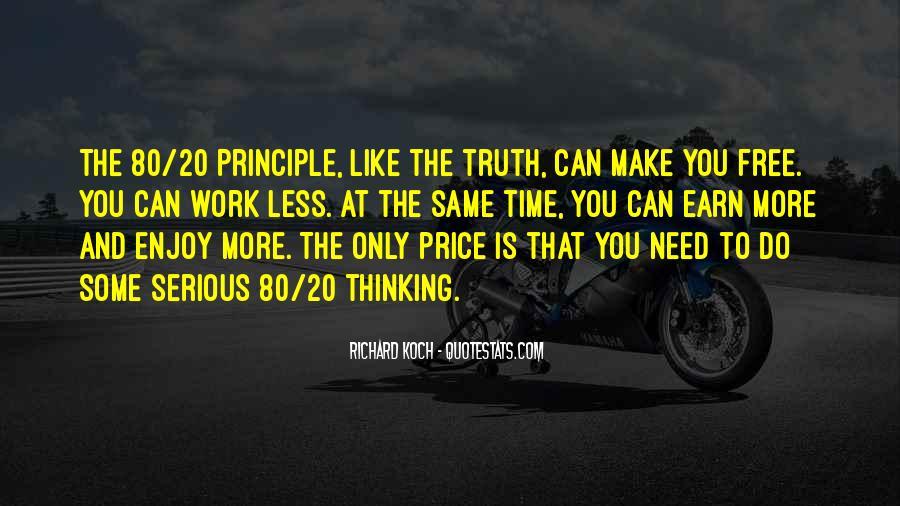 80 20 Principle Quotes #586466
