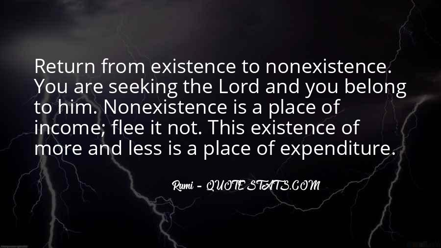 Quotes About Nonexistence #1360324