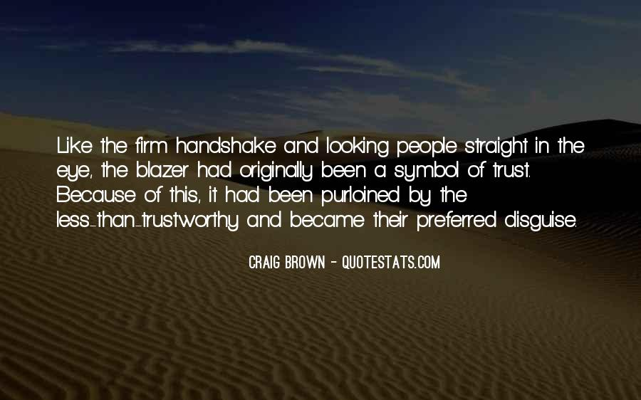 A Firm Handshake Quotes #815848