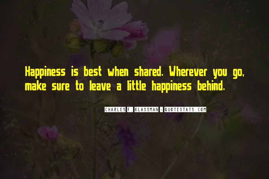 A Little Happiness Quotes #868127