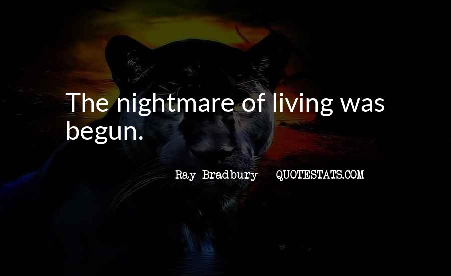 A Living Nightmare Quotes #97146