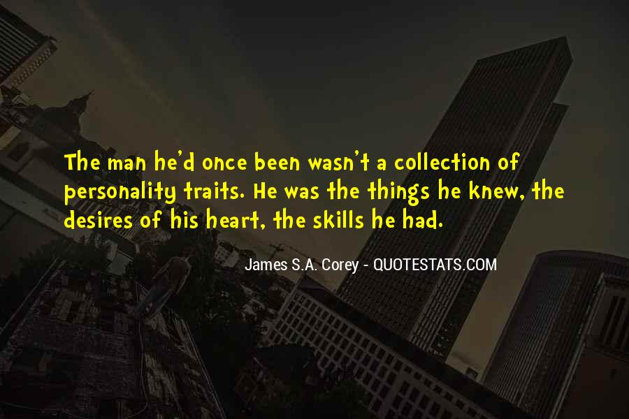 A Man Heart Quotes #10136