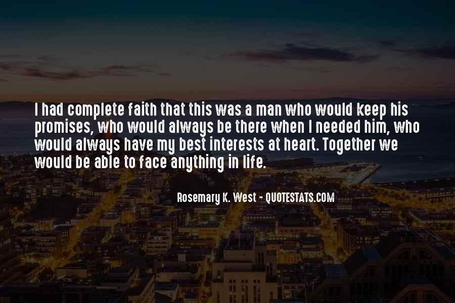 A Man Heart Quotes #26453