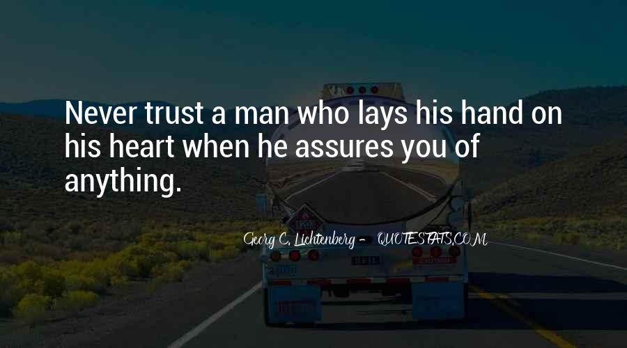 A Man Heart Quotes #28507