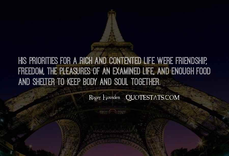 A Rich Life Quotes #116137