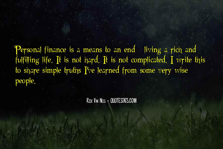 A Rich Life Quotes #146880
