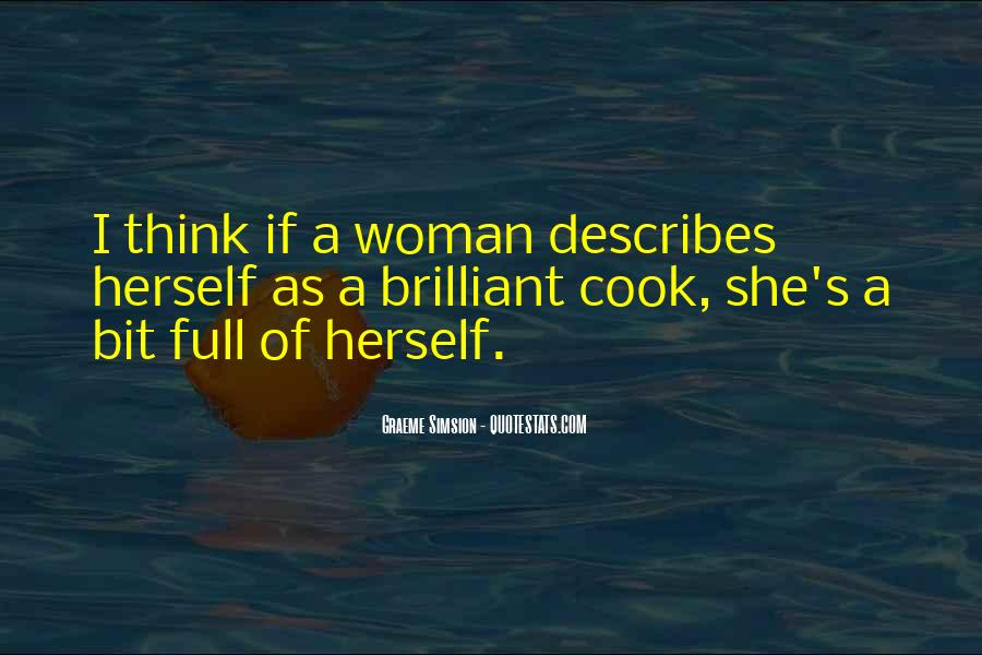 A Woman Who Can't Cook Quotes #328529