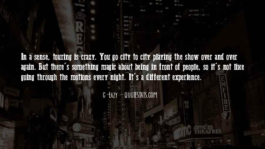About Being Crazy Quotes #88162