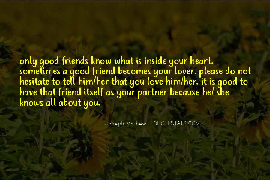 About Good Heart Quotes #1813544