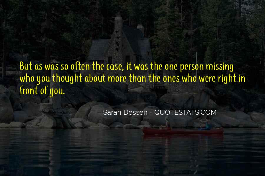 About Missing You Quotes #1729633