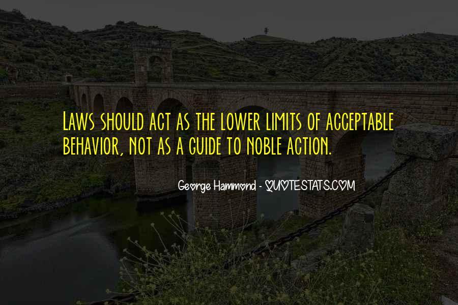 Acceptable Behavior Quotes #1493775
