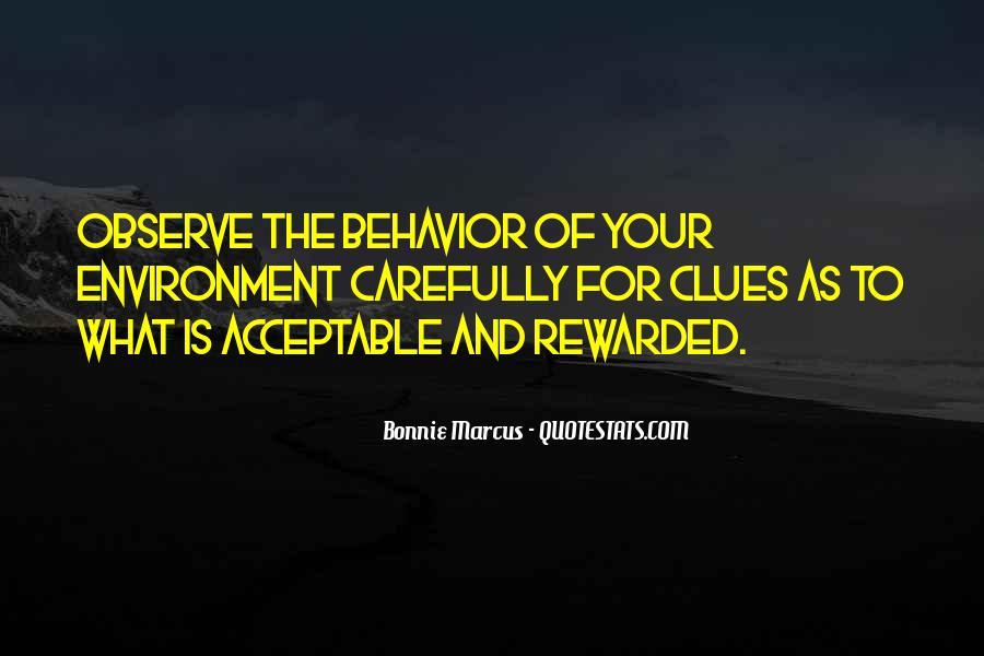 Acceptable Behavior Quotes #694039