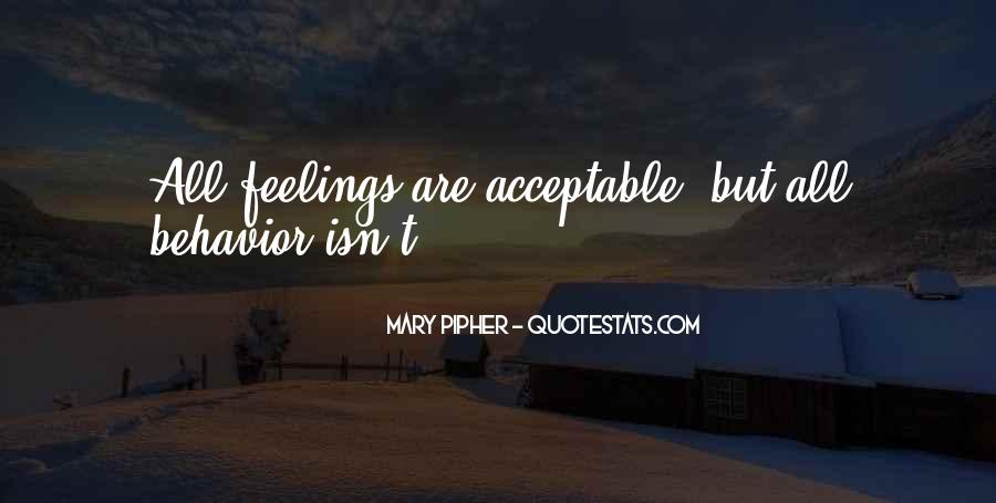 Acceptable Behavior Quotes #986546