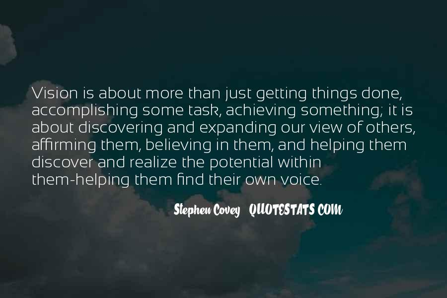 Achieving Is Believing Quotes #1026544