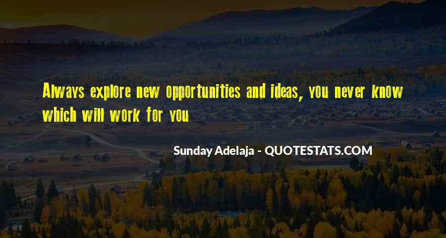 Quotes About New Work Opportunities #217900