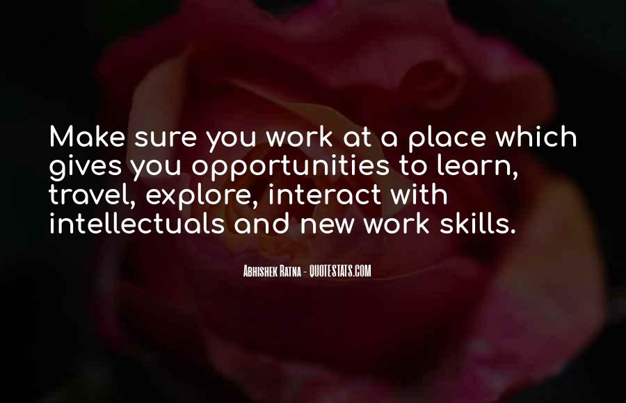 Quotes About New Work Opportunities #470319