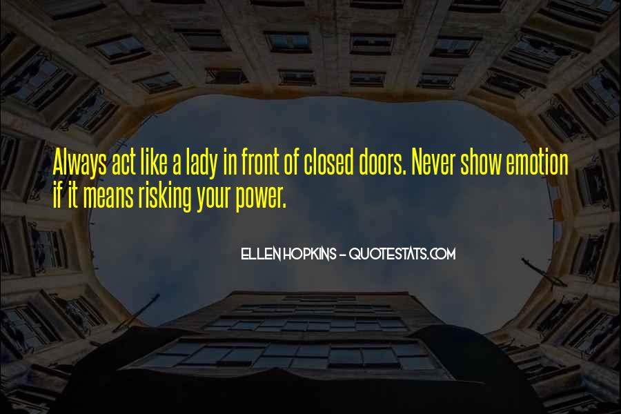 Act Like Lady Quotes #265516