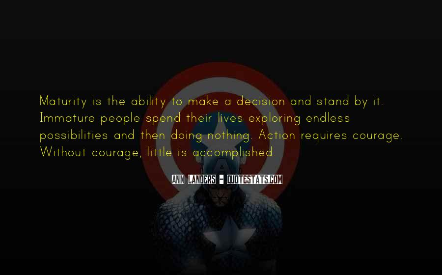 Action And Decision Quotes #1460754