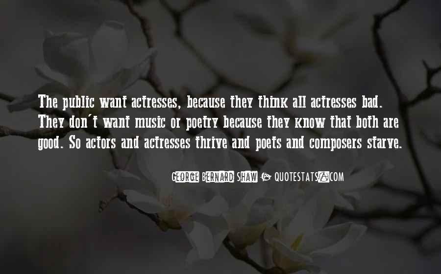 Actors And Actresses Quotes #1009365