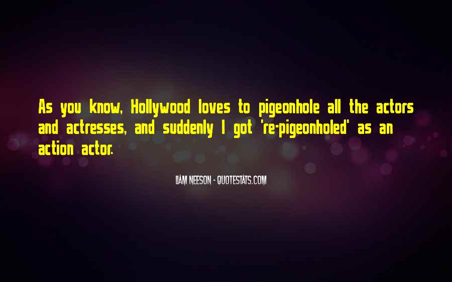 Actors And Actresses Quotes #1282362