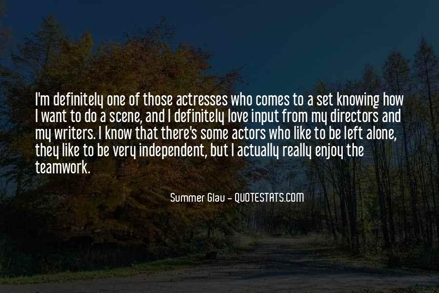 Actors And Actresses Quotes #751669