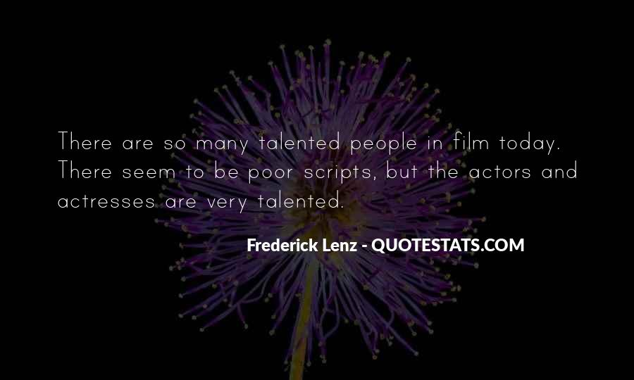 Actors And Actresses Quotes #847715