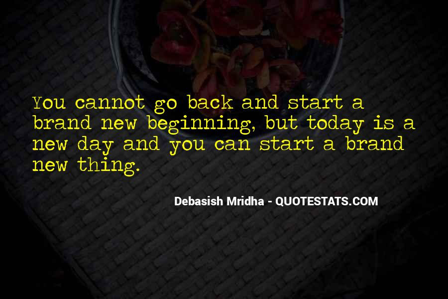 Quotes About New Day New Beginning #16878