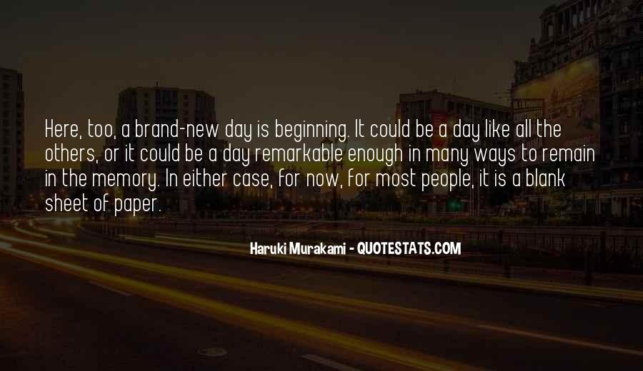 Quotes About New Day New Beginning #272945