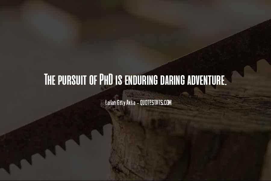 Adventure And Education Quotes #1555082