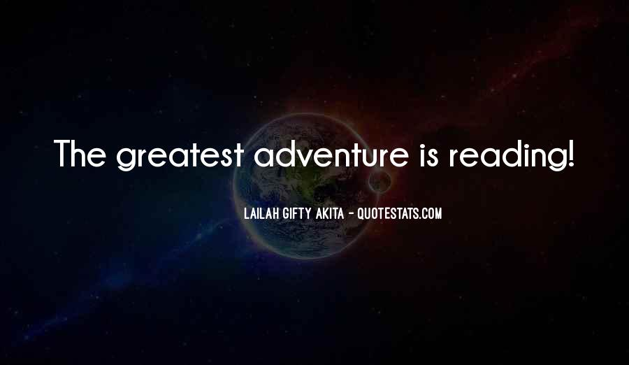 Adventure And Education Quotes #828106