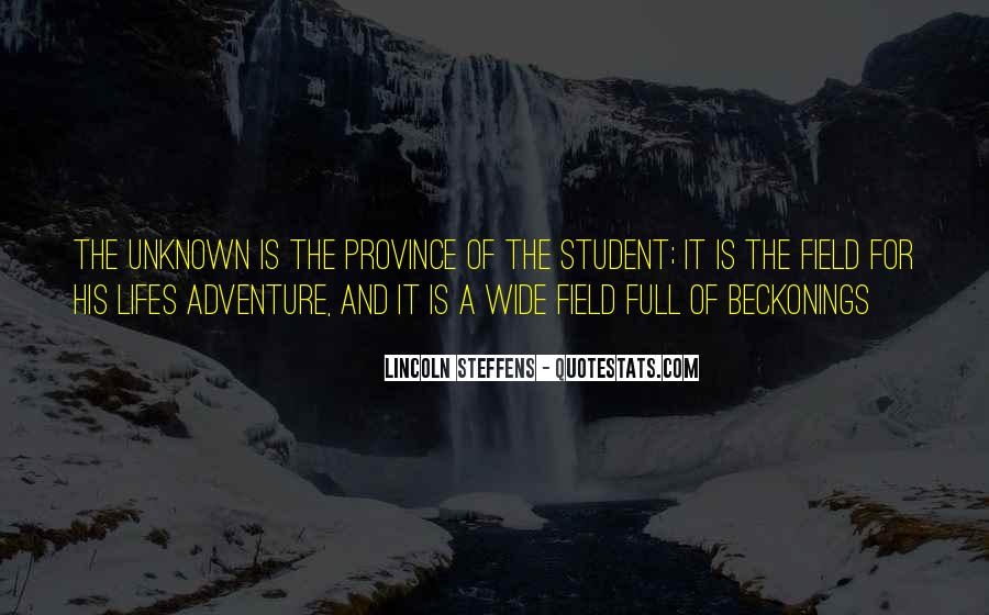 Adventure Into The Unknown Quotes #1232216