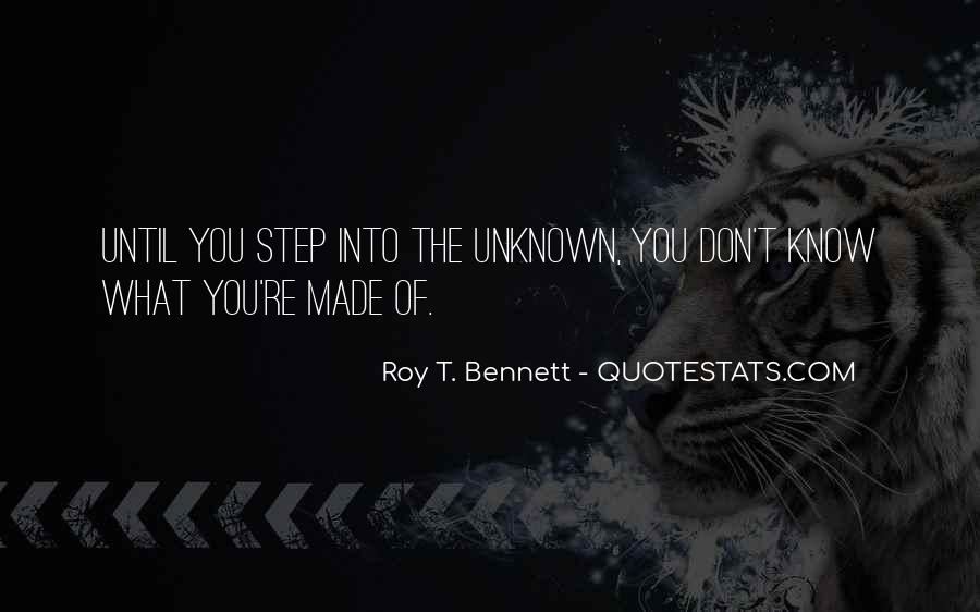 Adventure Into The Unknown Quotes #1725613