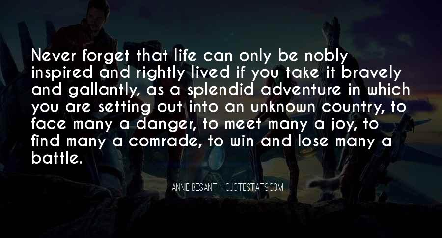 Adventure Into The Unknown Quotes #603959
