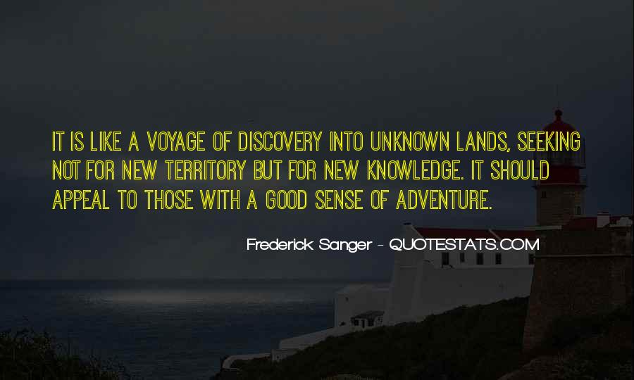 Adventure Into The Unknown Quotes #987880