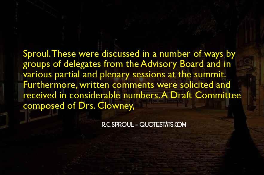 Advisory Committee Quotes #1118952