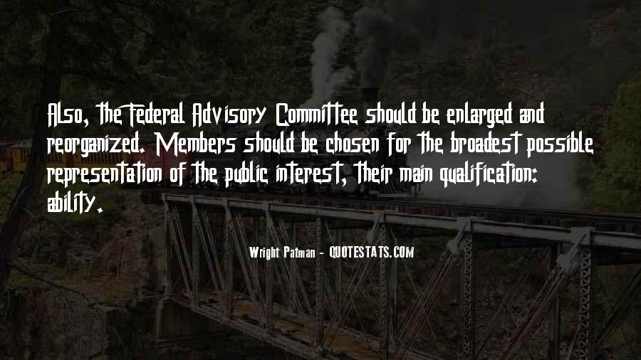 Advisory Committee Quotes #319019
