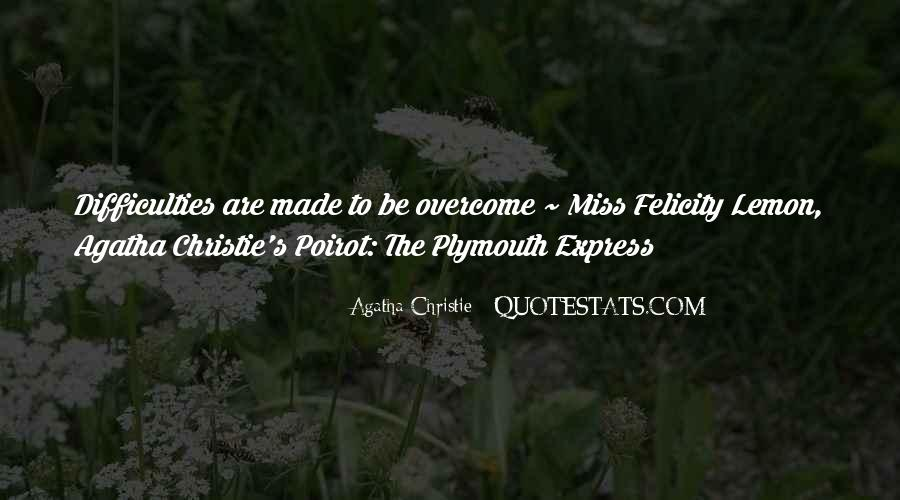 Agatha Christie Poirot Quotes #102393