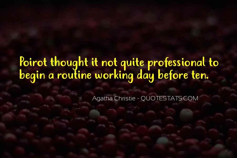Agatha Christie Poirot Quotes #1337616