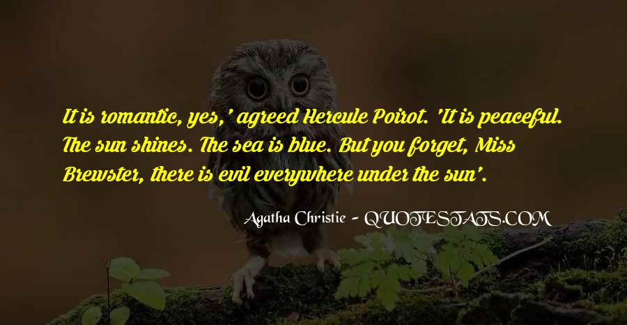 Agatha Christie Poirot Quotes #1416014