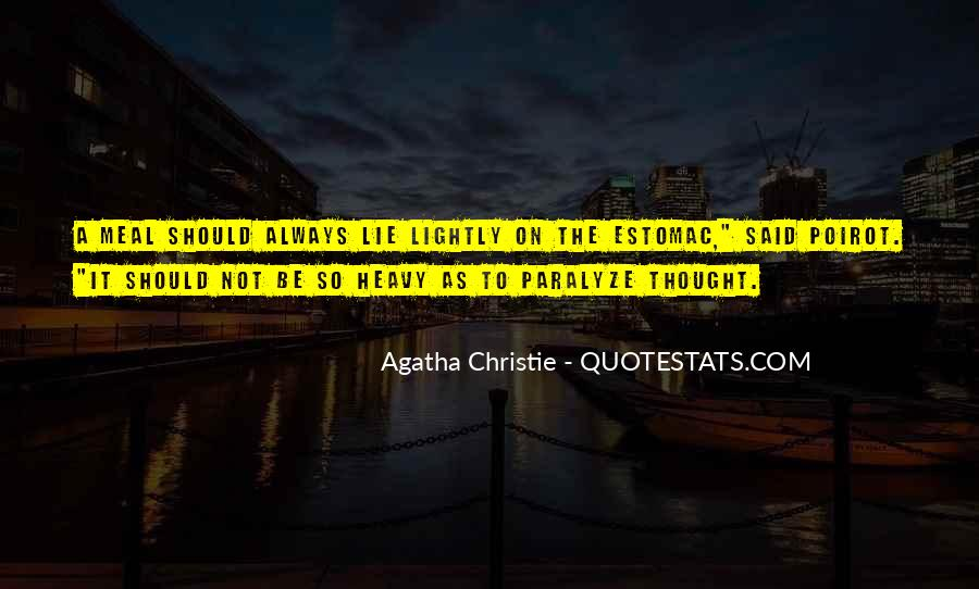 Agatha Christie Poirot Quotes #243714