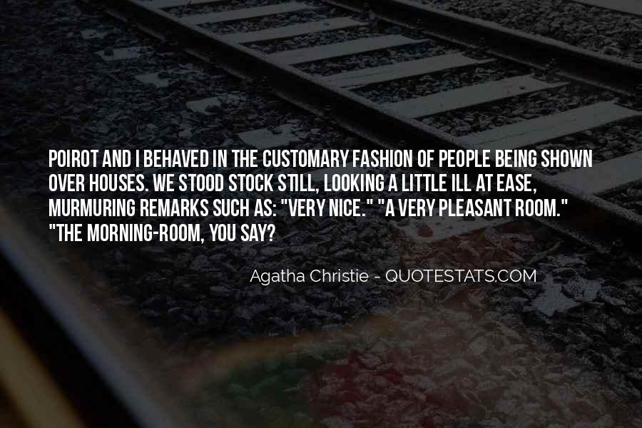 Agatha Christie Poirot Quotes #340623
