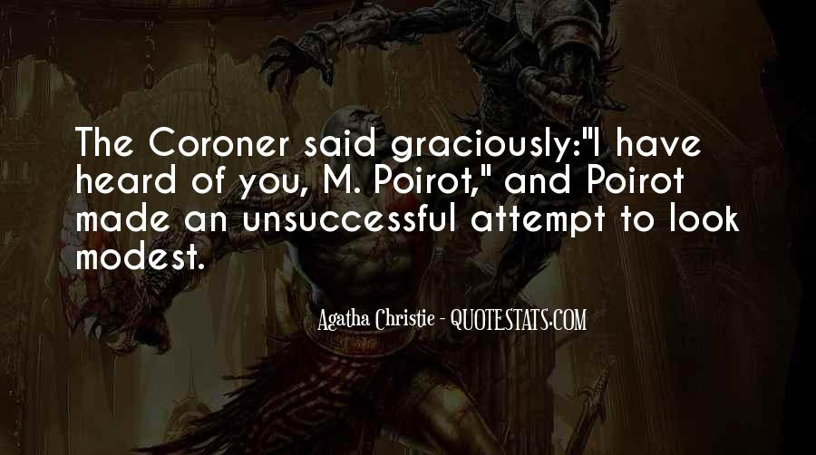 Agatha Christie Poirot Quotes #697155