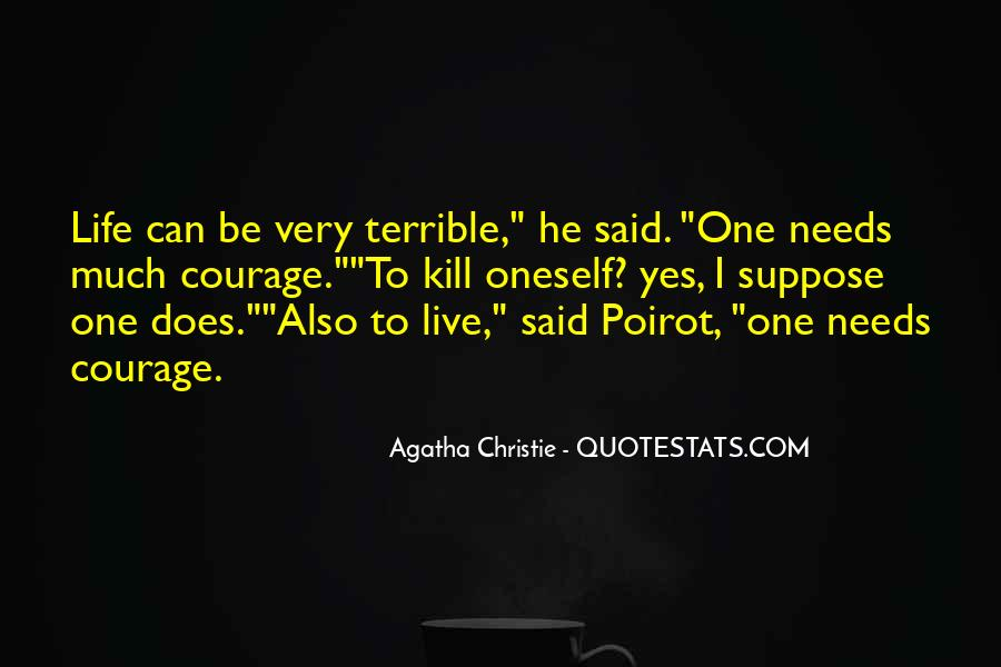 Agatha Christie Poirot Quotes #845194