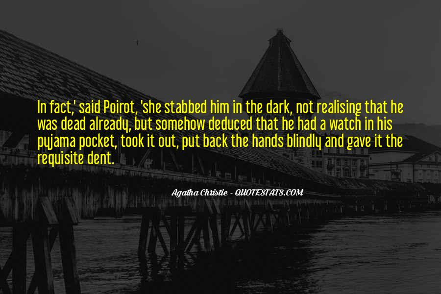 Agatha Christie Poirot Quotes #936108