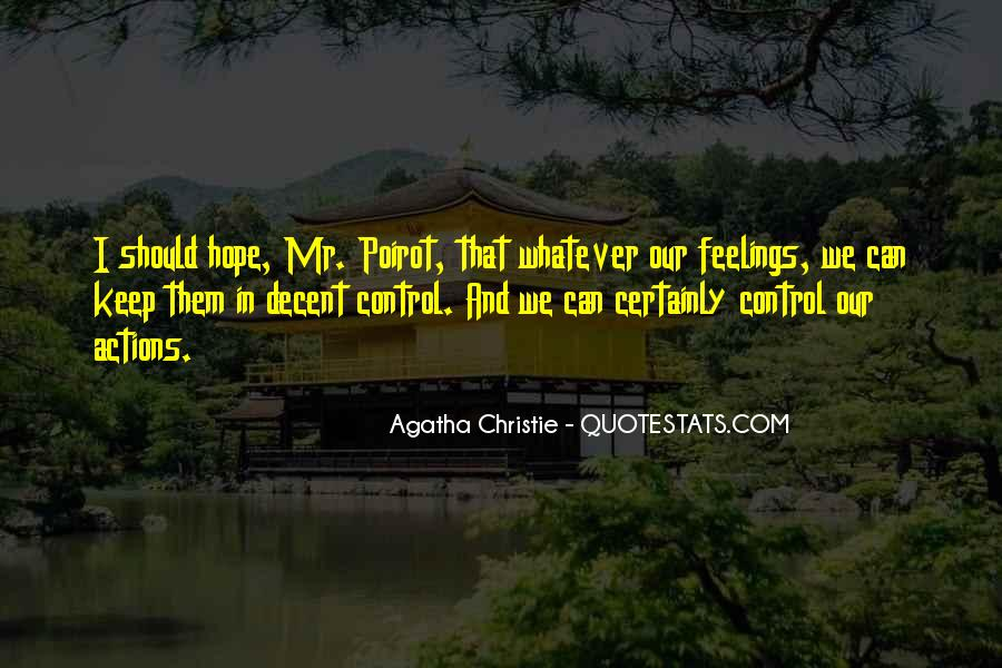 Agatha Christie Poirot Quotes #9826