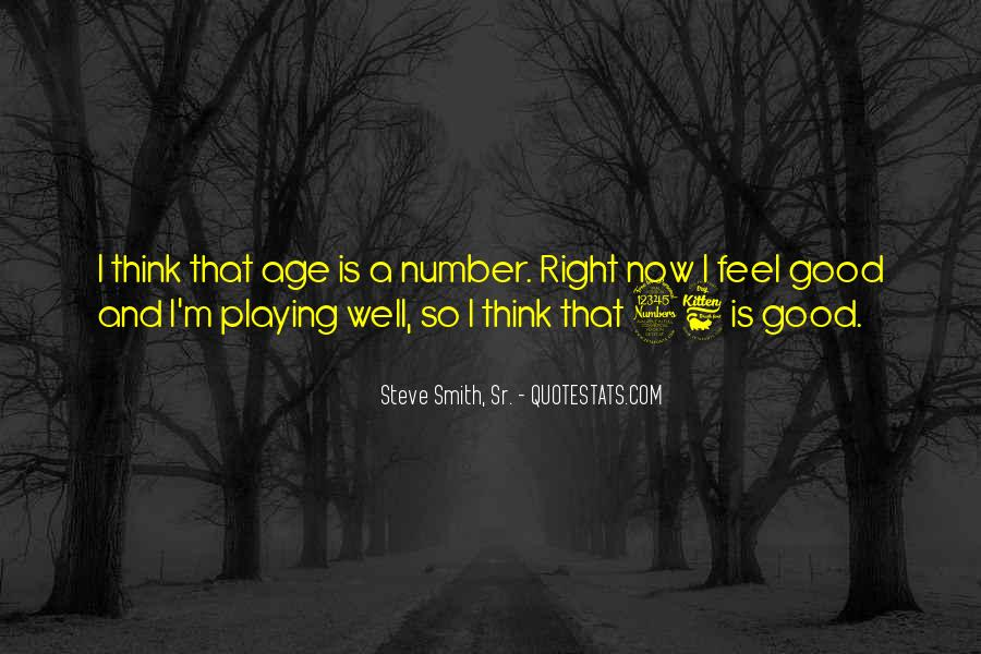 Age Is Just But A Number Quotes #651367