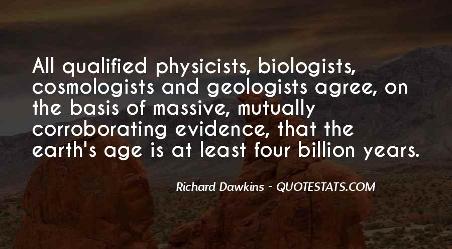Age Of The Earth Quotes #127659