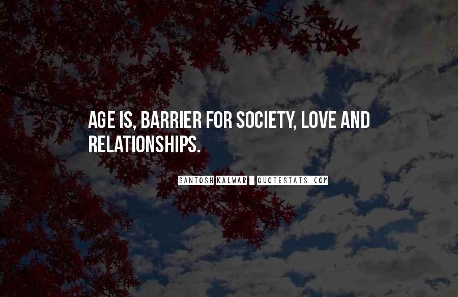 Age Vs Love Quotes #66018